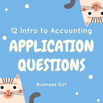 12 Intro To Accounting Application Questions This Or That