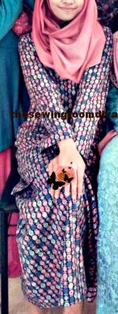 baju kurung moden for alya, eid 2014