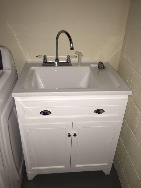 Basement Laundry Room Remodel We Installed Track Lighting