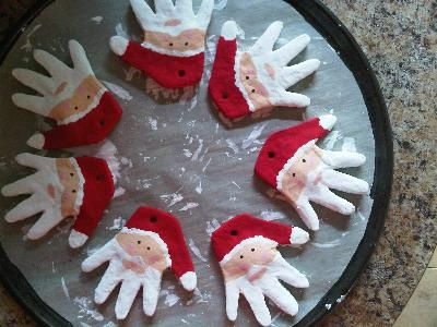 """This would make a great memory with children and grandchildren--they'd be proud to give them as presents, too! """"This is to remind you When I have grown so tall, That once I was quite little And my hands were very small."""" 2 cups of Flour 1/2 cup of Salt 1/2 cup or less of Water"""