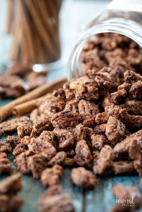 Homemade Cinnamon Pecans and Walnuts #cinnamonnuts #nuts #pecans #walnuts #cinnamonpecans #snack #recipe