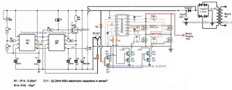 Single Phase Variable Frequency Drive Vfd Circuit Homemade Circuit Projects Di 2020