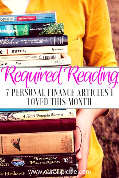 Personal finance articles I loved in November 2018 | Our Bill Pickle