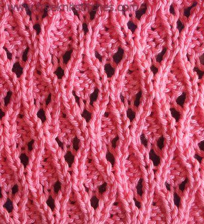 Day 20 Quilted Diamonds Knit Stitch 100daysofknitstitches