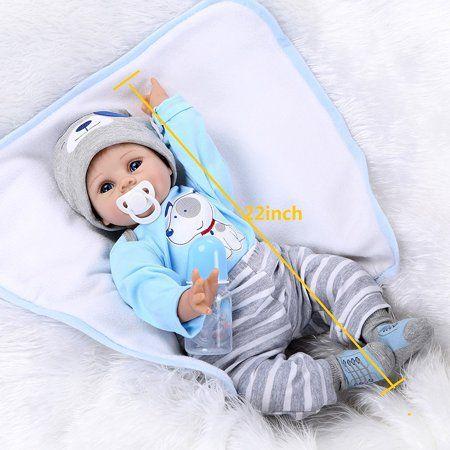 "10/"" Full Body Silicone Vinyl Reborn Baby Doll Boy Lifelike Newborn bebe toy gift"