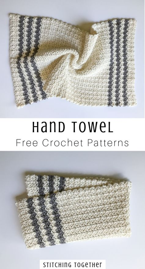 Cute crochet country dish towel adds great modern farmhouse style to your kitchen, or you could use them as hand towels in the bathroom. Pair them with the crochet country dishcloth set and you… Crochet Dish Towels, Crochet Kitchen Towels, Crochet Potholders, Knit Kitchen Towel Pattern, Crochet Dishcloths Free Patterns, Knitted Washcloths, Crochet Gifts, Easy Crochet, Free Crochet