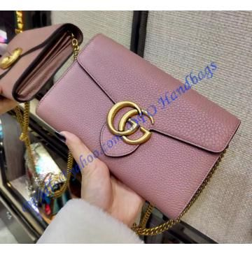 1157ded570 Gucci GG Marmont Pink Leather Mini Chain Bag | LuxTime Bags in 2019 ...