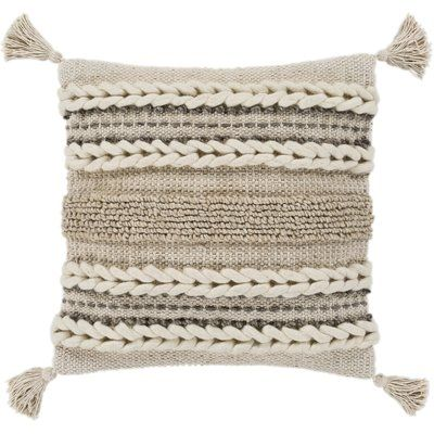 Union Rustic Wylie Texture Throw Pillow Pillow Texture Throw Pillows Bohemian Pillows