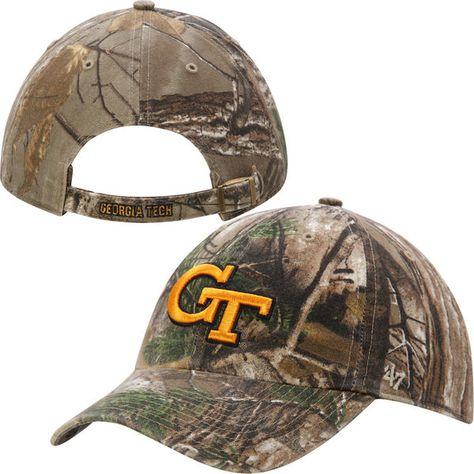 GA Tech Yellow Jackets '47 Brand Clean Up Adjustable Hat – Realtree Camo, $21.99 http://shareasale.com/m-pr.cfm?merchantid=7124&userid=646297&productid=581755230&afftrack=