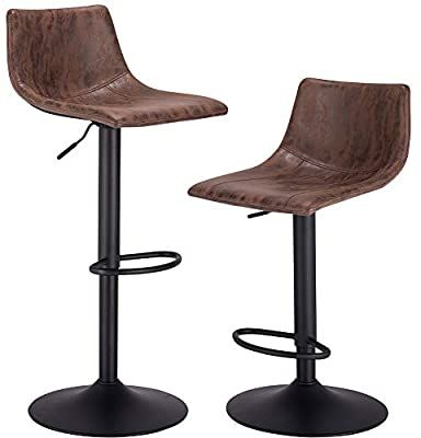 Amazon Com Praisun Bar Stools Set Of 2 Swivel Counter Chairs
