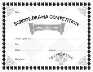 School drama competition award certificate template for ms word school drama competition award certificate template for ms word download at httpcertificatesinnschool drama competition award certificates yadclub Choice Image