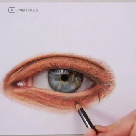 Incredible Eye Drawing - #Creative #drawing #Eye #Incredible