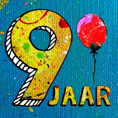 Hedendaags Jongen verjaardag 9 jaar - Verjaardagskaarten - Kaartje2go WC-54