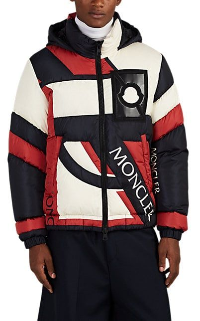 We Adore The Plunger Logo Down Quilted Puffer Coat From 5 Moncler Craig Green At Barneys New York Designer Sportswear Coat Design Mens Designer Shirts