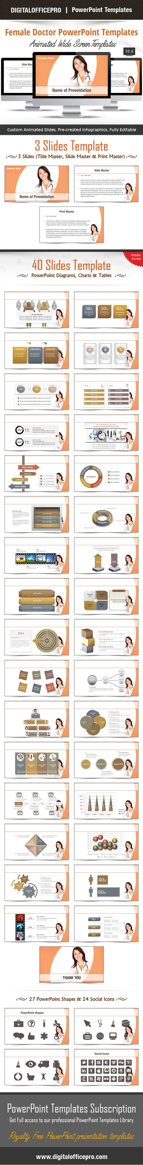 Female doctor powerpoint template backgrounds female doctor toneelgroepblik Image collections