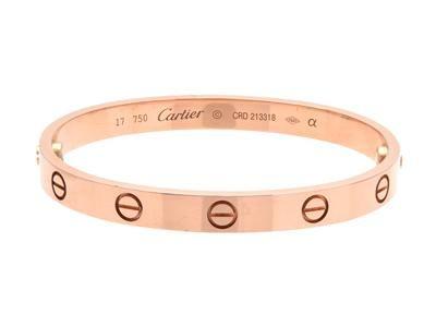 Cartier Love Bracelet 18k Pink Gold Crd213318 Size 17 Weight 32 5 G Screwdriver Original Box Case And Ba Love Bracelets Bracelets Cartier Love Bracelet