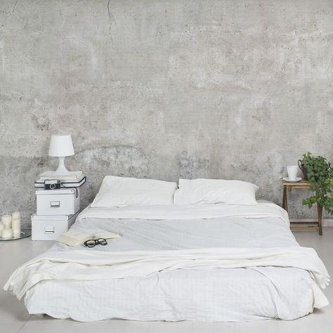 Dipingere le pareti della camera da letto / come dipingere la camera da letto la risposta in 15 idee ispiratevi. Immagine Del Prodotto Carta Da Parati Effetto Cemento Larga Effetto C Camera Da Letto Industrial Dipingere Pareti Camera Da Letto Interior Design Per La Casa