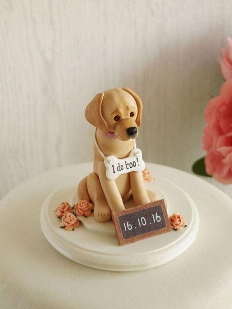 Golden Labrador Cake Topper Custom Dog Wedding Cake Topper Dog Cakes