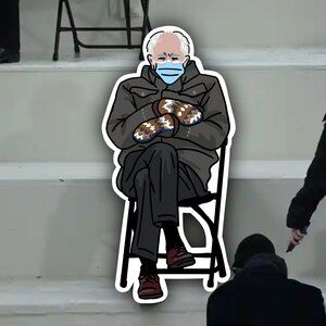New Bernie Sanders Mitten Meme Vinyl Decal Sticker Ping Hatta Illustrations Exploring Womanhood Fashion Travels Dreams And Mystics By Bangkok Based Arti In 2021 Vinyl Decal Stickers Vinyl Decals Illustration