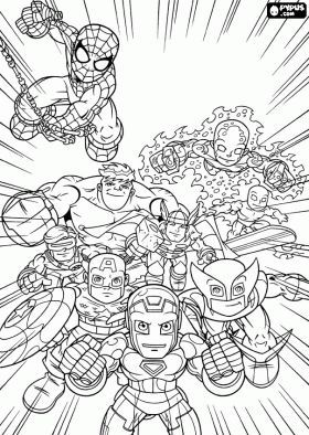 Marvel Superheroes Super Hero Squad Coloring Page Online Coloring Avengers Coloring Marvel Coloring Avengers Coloring Pages