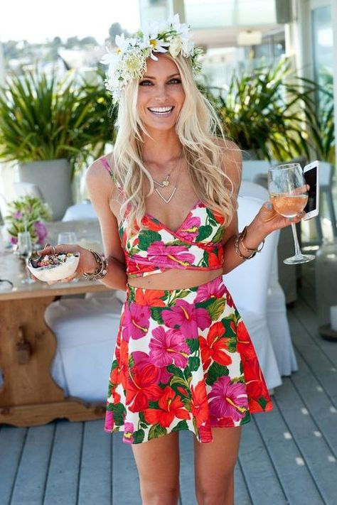 fa39454d5c 63 Bold And fun Tropical Bridal Shower Ideas | Wedding party ideas |  Tropical bridal showers, Tropical outfit, Luau outfits