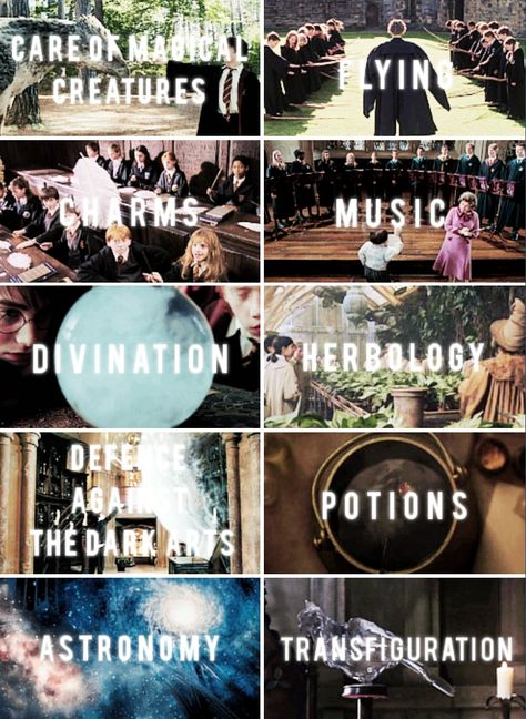 Harry Potter - Hogwarts classes
