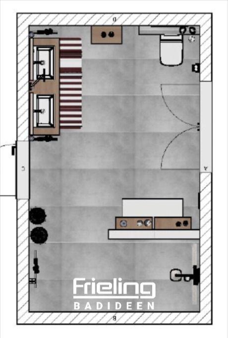Das Grosse Bad Mit Walkin Dusche Sitzbank Doppelwaschbecken 3d Planung Vogelperspektive 13 Qm In 2020 Bad Dusche Badezimmer Grundriss