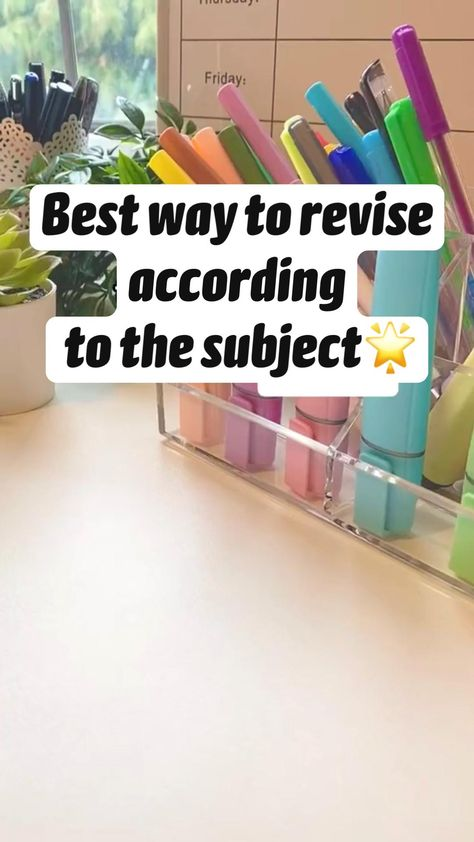 Best way to revise  according  to the subject🌟| geography history school