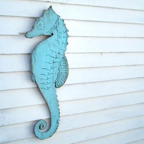 Seahorse Wall Decor Wooden Seahorse Decor Sea Horse Wall Decor