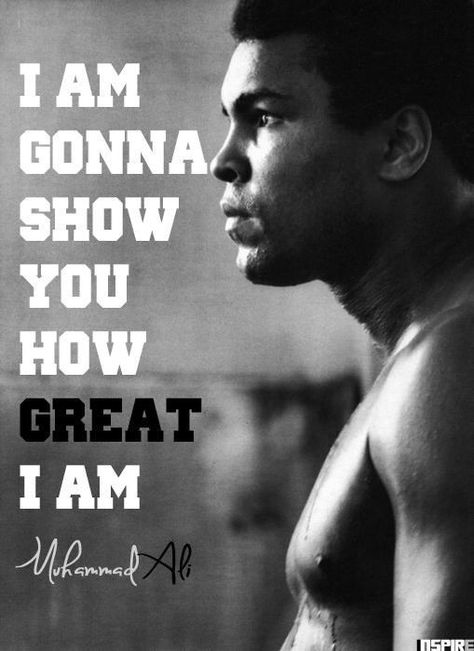Motivation for black athletes everywhere. Ali overcame racism in the 60's and 70's, jailed for his views but never looked back and became the GOAT (greatest of all time) he used his frustration to fuel the fire.