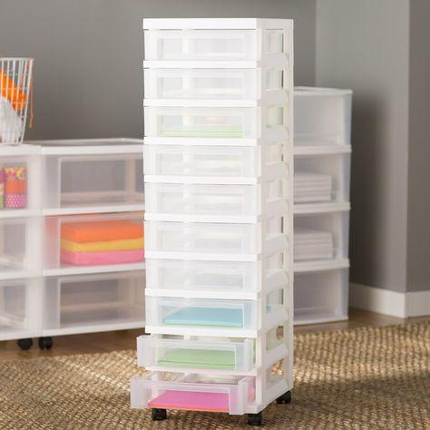Basics 10 Drawer Storage Chest In 2020 Storage Drawers Craft