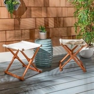 Constructed With The Strength Of Natural Eucalyptus Wood Its Seat Can Also Be Used As An Impromptu Table For Drink In 2020 Outdoor Ottoman Outdoor Stools Outdoor Pouf