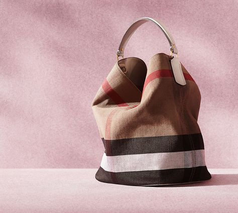 Burberry Burberry  Medium Susanna - Mega Check  Jute   Cotton Bucket Bag  available at  Nordstrom  24919d452b2a8