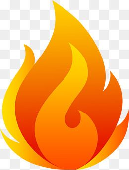 Fire red. Flaming flame vector png