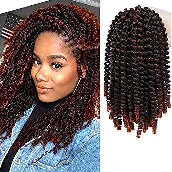 4 Packs Spring Twist Crochet Curly Synthetic Braiding Ombre Colors