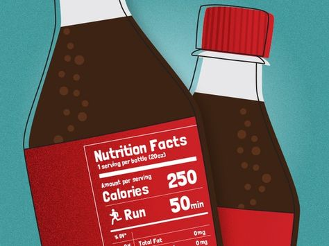 What if food labels showed the amount of exercise required to burn off calories?