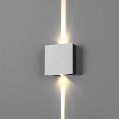 Contemporary Waterproof Silver 1w 2w 4w Led Directional Wall Sconce Square Wall Light For Hallway Gallery Porch 3 Size For Option In 2020 Wall Lights Hallway Lighting Wall Sconces