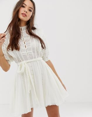 8784f219a84 Free People Sydney mini shirt dress in 2019 | skater dress | Mini ...