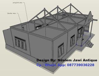 Konstruksi Atap Rumah Limasan Minimalis Modern Denah Desain Rumah Limasan Joglo Rumah Modern Rumah Desain Rumah