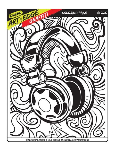 Art With Edge Graffiti Coloring Page Crayola Com Crayola Art Coloring Pages Inspirational Coloring Pages