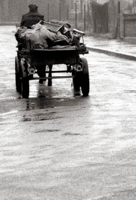 """Rag & Bone Man, E13 (1961) - """"Down my street in Plaistow, there were not many cars about – all you could hear was the clip-clop of the horse on the wet road."""""""
