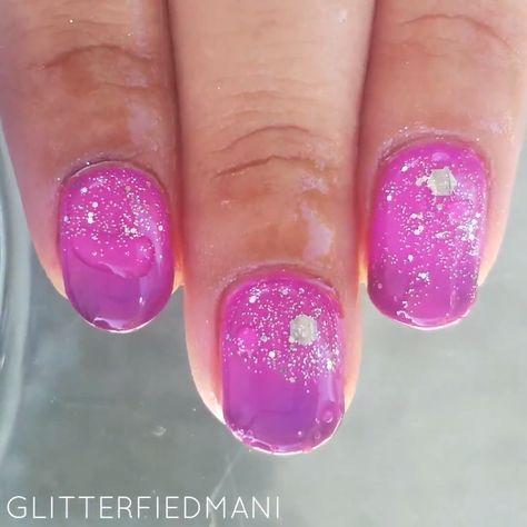 How Arabian Night with Glitters Nails Look Like | AIMEILI ( I-May-Lee )