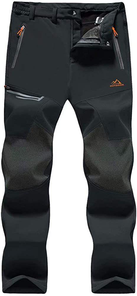 Amazon Com Magcomsen Pantalones De Senderismo Para Hombre Resistentes Al Agua 4 Bolsillos Con Cremallera Hiking Pants Mens Ski Pants Mens Snowboard Pants