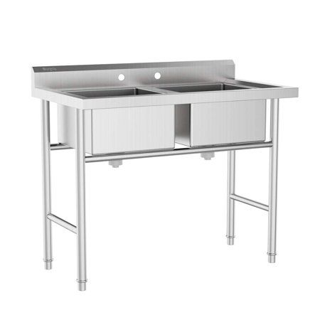 Industrial Scientific Stainless Steel Utility Sink