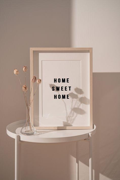 DIGITAL DOWNLOAD Home Sweet Home Housewarming Gift Printable Wall Art Home Sign Living Room Wall Decor Minimalist Poster Family Room Decor