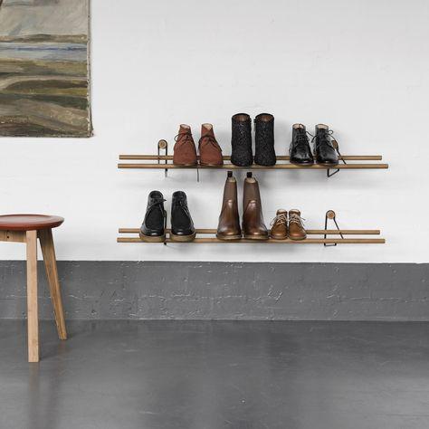 Schoenenrek Voor Aan De Wand.We Do Wood Wand Schoenenrek In 2019 Schoenenkast Ruimte