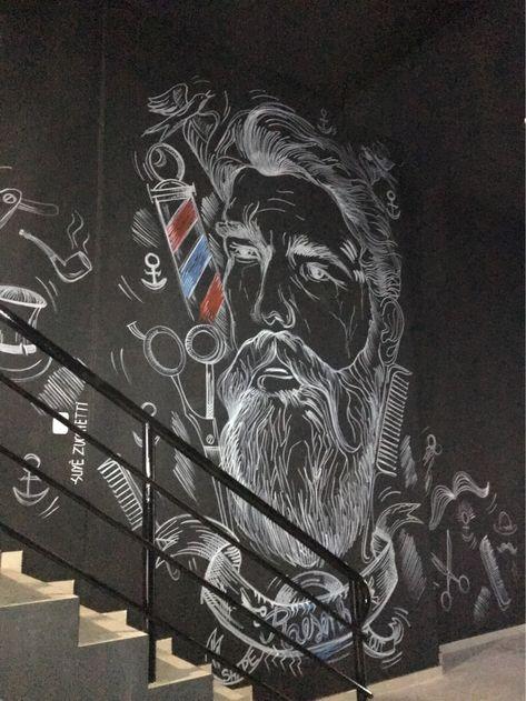Pintura Barbearia Resenha _ Suyê Zucchetti