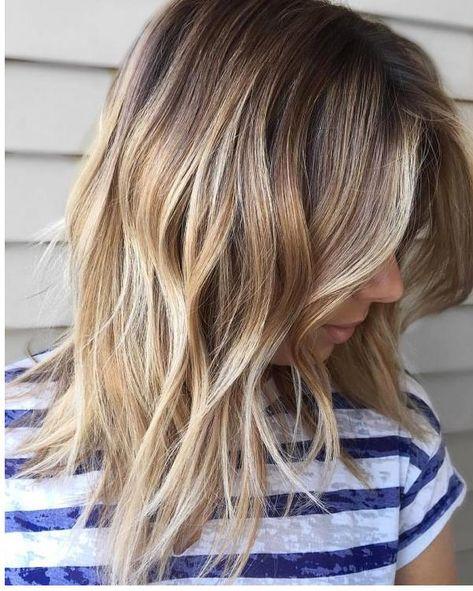 Mittellange Frisuren Damen Frisuren Lange Haare Ombre