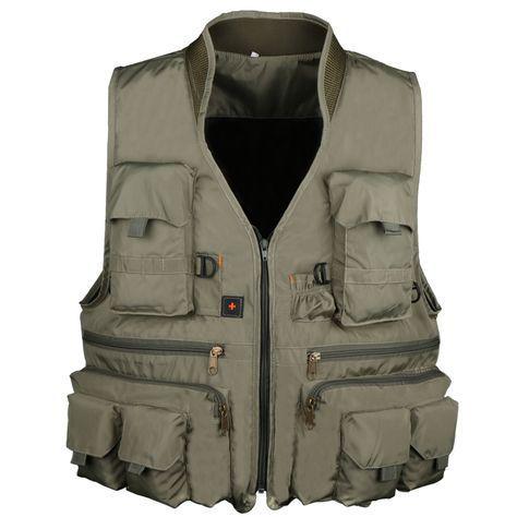 Fishing Vest Jacket For Men Women With Pocket Waistcoat Photography L//XL//XXL//3XL