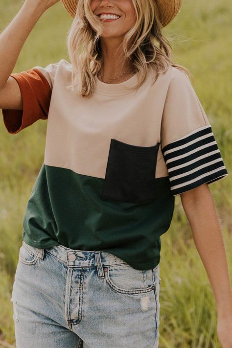 Contrast Stripe Top - The Stailee Top